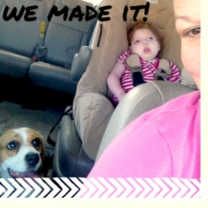 But we made it. 1 happy dog, 1 unsure girl, and 1 proud mom.
